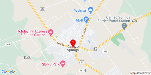 Google Map of Carrizo Springs, TX